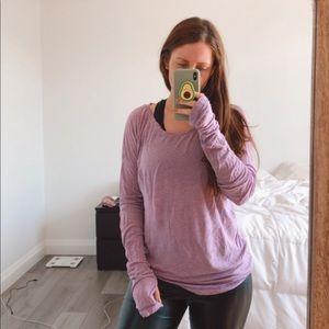 Purple Long Sleeve Under Armour Tee